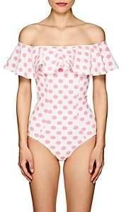 Lisa Marie Fernandez Women's Mira Polka Dot One-Piece Swimsuit - White Pat.