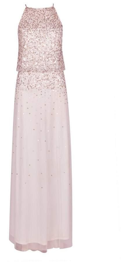 **Showcase Blush 'Ava' Maxi Dress