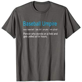 Best Hilarious Baseball Umpire Definition Funny Gift T-Shirt
