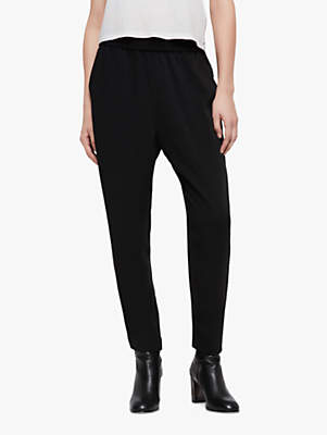 Helena Stud Relaxed Trousers, Black