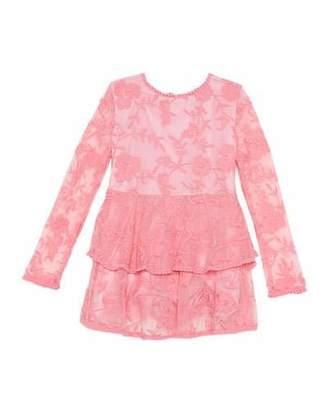 Bardot Junior Ember Long-Sleeve Lace Dress, Size 8-16