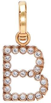 Burberry B Crystal Embellished Letter Charm - Womens - Crystal
