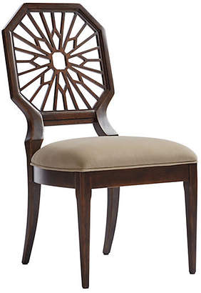 One Kings Lane Lasa Side Chair - Verdado Gray/Mahogany