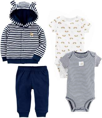 Carter's Simple Joys by Boys' 4-Piece Terry Cardigan Set