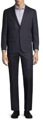 Hickey Freeman Stripe Wool Suit