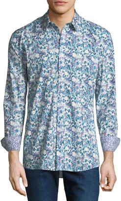 Duchamp Digital Floral Sport Shirt
