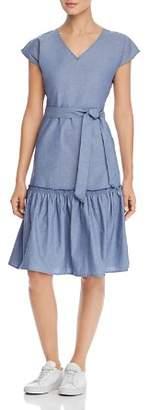 Design History Cap-Sleeve Denim Dress