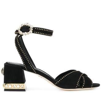 191d0115b74 Dolce   Gabbana Block Heel Women s Sandals - ShopStyle