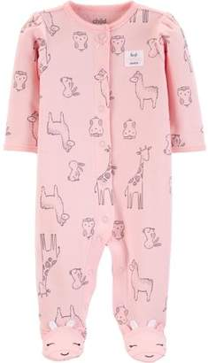 Carter's Child of Mine by Button-up sleep n play pajama (baby girls)