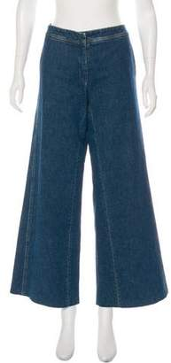 Chanel Mid-Rise Wide-Leg Jeans