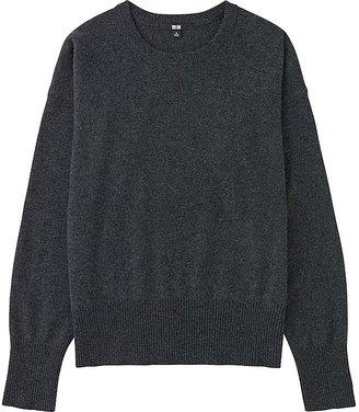 UNIQLO Women's Cashmere Crew Neck Sweater $79.90 thestylecure.com