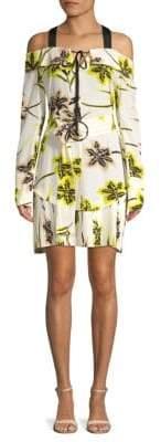 Derek Lam 10 Crosby Floral-Print Silk Sheath Dress