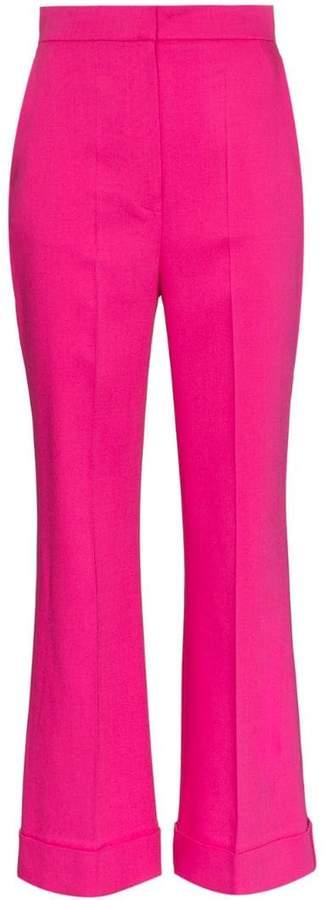 Iana flared silk blend trousers