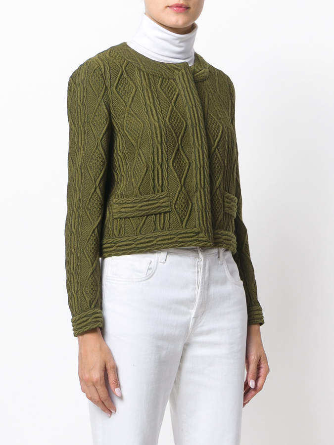 Moschino cable effect cropped jacket