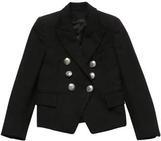 Balmain Double Breasted Bouclé Jacket