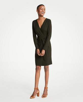 Ann Taylor Gathered Rib Knit Dress