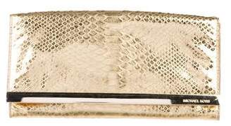 MICHAEL Michael Kors Tilda Embossed Leather Clutch