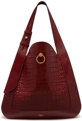 Mulberry Marloes Hobo Antique Ruby Croc-Embossed Nappa