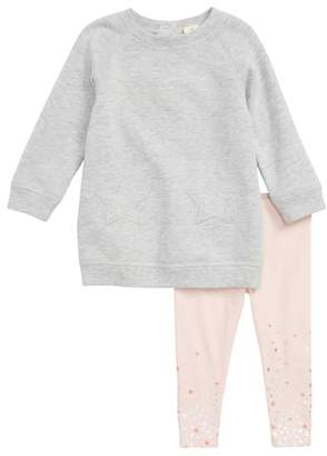 Tucker + Tate Fleece Sweatshirt Dress & Leggings Set