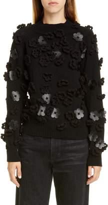 PASKAL clothes Floral Applique Sweater