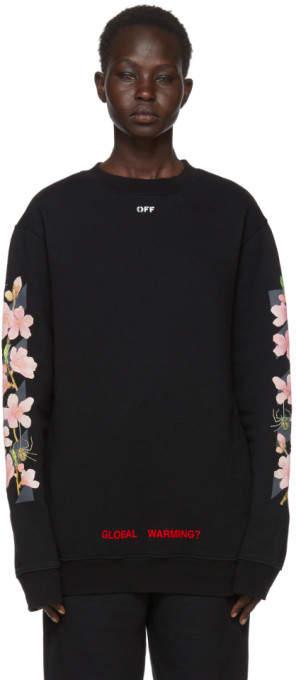 SSENSE Exclusive Black Diagonal Cherry Oversize Sweatshirt