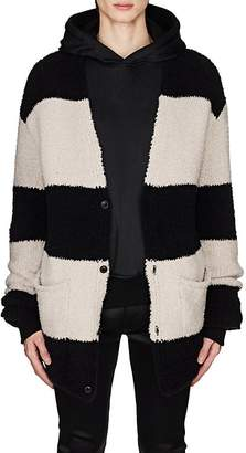 Amiri Men's Striped Wool-Blend Chenille Oversized Cardigan