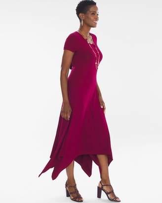Handkerchief Hem Midi Dress