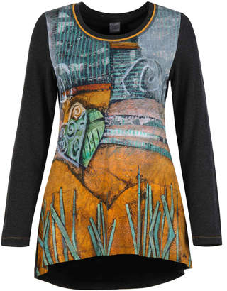 Dolcezza Artist front button detail back Hi Lo Tunic