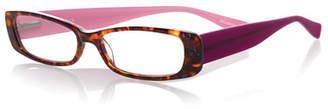 Eyebobs Co-Conspirator Rectangular Two-Tone Readers, Tortoise/Purple