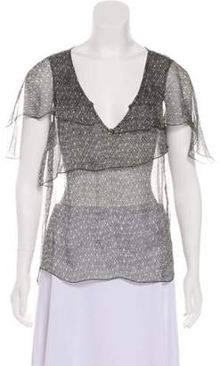 Zadig & Voltaire Printed Short Sleeve Top