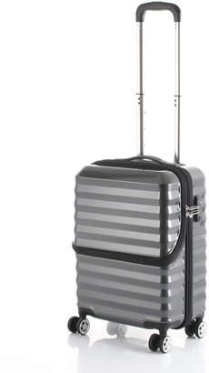 actus color's フロントオープンキャリーS34L スーツケース ブラック s