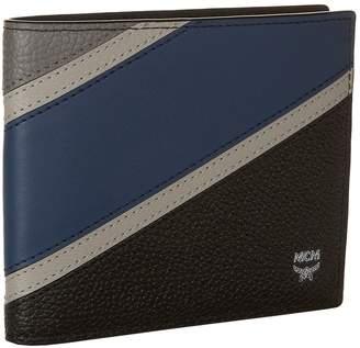 MCM Block Stripe Bifold Wallet
