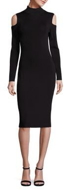 Laundry by Shelli Segal Cold Shoulder Mockneck Sweater Dress $168 thestylecure.com