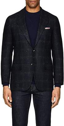 Kiton Men's Checked Cashmere-Blend Two-Button Sportcoat