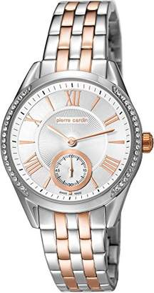 Pierre Cardin Nimes Petit Women's Quartz Watch with Silver Dial Analogue Display and Multicolour Stainless Steel Bracelet PC106302S06