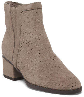 Deep V Suede Ankle Booties
