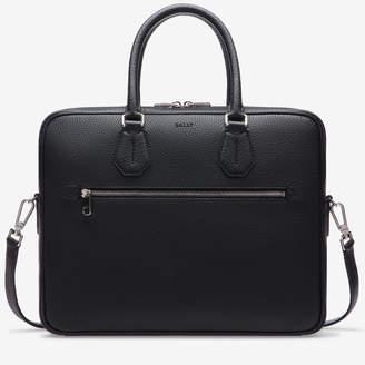 Bally Condria Black, Men's leather business bag in black