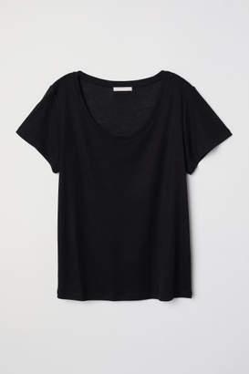 H&M Lyocell T-shirt - Black