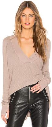 Michael Lauren Alvin Long Sleeve V Neck Sweater