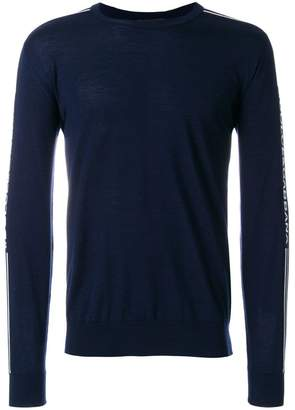 Dolce & Gabbana logo stripe sweater