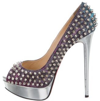 Christian Louboutin  Christian Louboutin Iridescent Spike Pumps