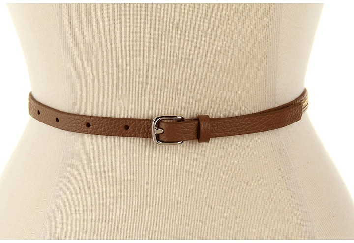 MICHAEL Michael Kors Michael Kors 12MM Skinny Zipper Panel Belt (White) - Apparel