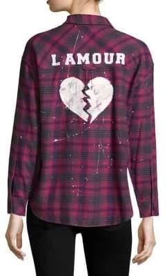 Rails Plaid-Print L'Amour Shirt