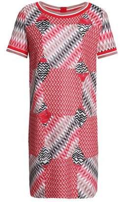 Missoni Patchwork-Effect Crochet-Knit Mini Dress