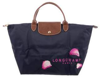 Longchamp Embroidered Le Pliage Tote