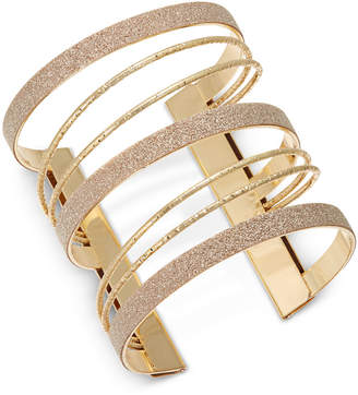 Thalia Sodi Gold-Tone Glitter Multi-Row Cuff Bracelet, Created for Macy's