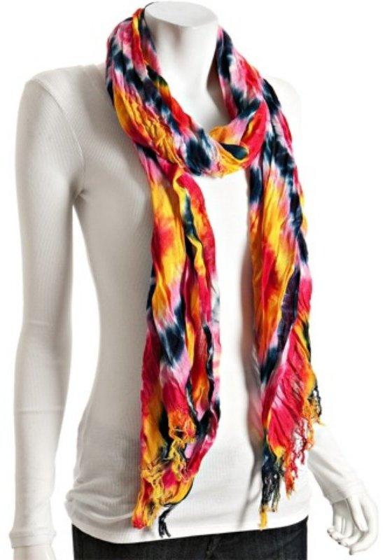 Michael Stars punch tie-dye 'Sunshine' woven scarf