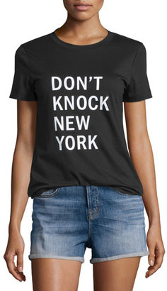DKNY Don't Knock New York Jersey Tee. Black $158 thestylecure.com