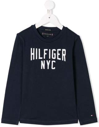 Tommy Hilfiger Junior logo print T-shirt