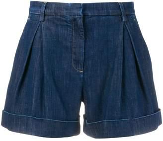 L'Autre Chose box pleat jean shorts